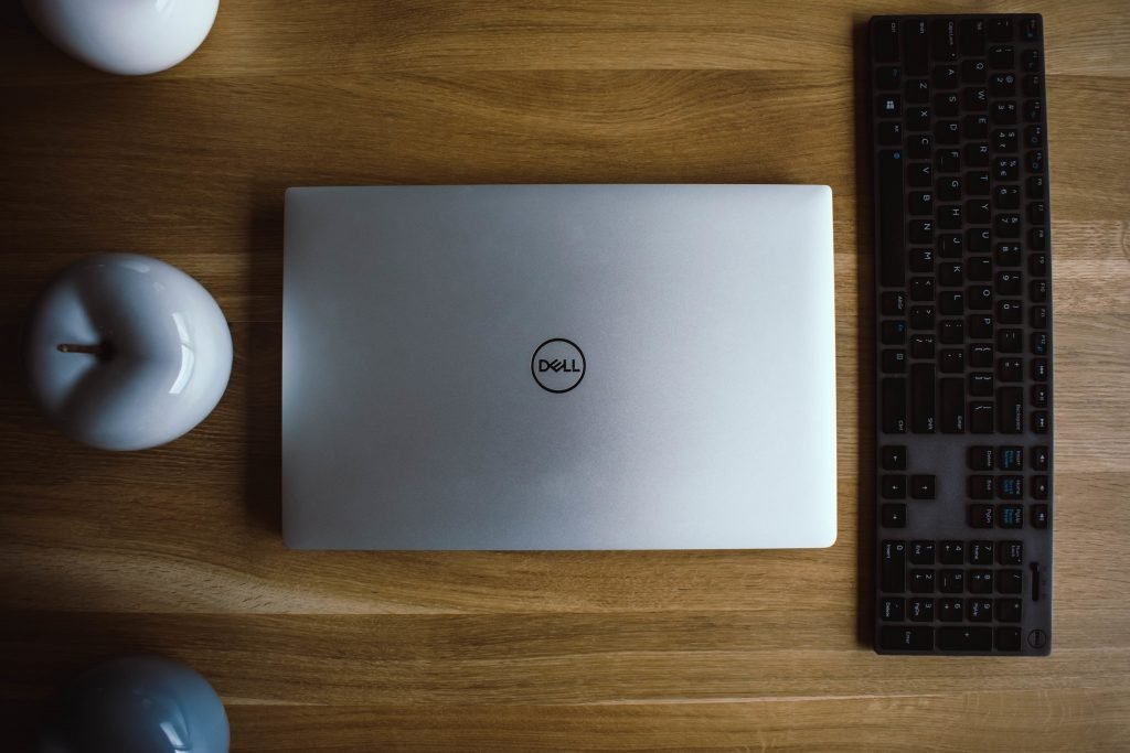 Dell Laptop on Table