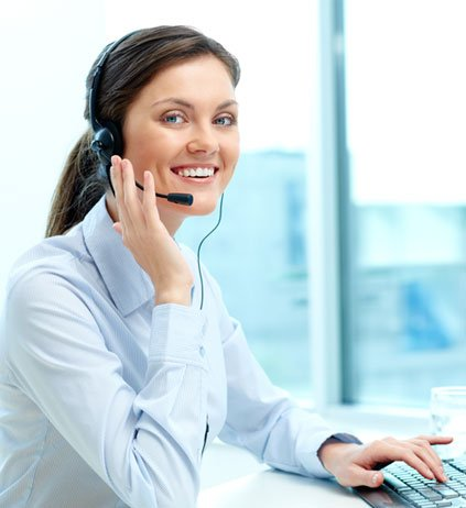 businesswoman call center office