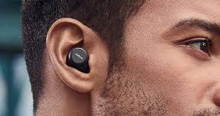 Man using wireless Jabra